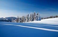 зима гор Стоковая Фотография