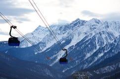 зима гор gudauri caucasus Georgia большие горы горы ландшафта Стоковые Изображения RF