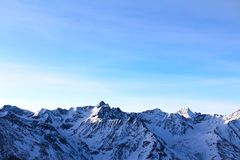 зима гор gudauri caucasus Georgia Стоковые Фотографии RF