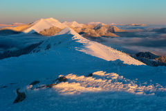 зима гор gudauri caucasus Georgia Стоковая Фотография RF