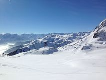 зима гор gudauri caucasus Georgia Стоковое фото RF