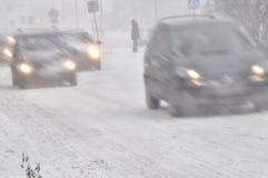 зима движения дороги Польши Стоковые Изображения