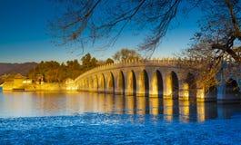 Зима дворца лета Стоковая Фотография