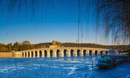 Зима дворца лета Стоковое фото RF