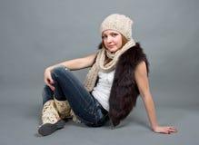 зима девушки крышки Стоковые Фотографии RF
