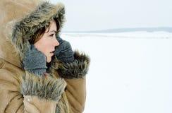 зима девушки пальто Стоковое Изображение RF