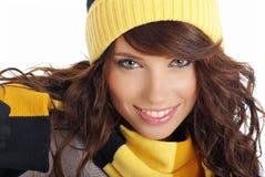 зима девушки сексуальная Стоковая Фотография