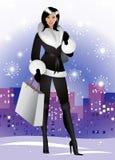 зима девушки славная Стоковое Фото
