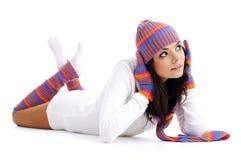 зима девушки способа Стоковые Фотографии RF