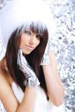 зима девушки шерсти нося белая Стоковое Изображение RF