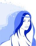 зима девушки Иллюстрация вектора