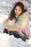 зима девушки стоковые фотографии rf