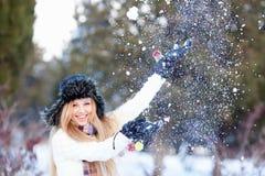 зима девушки Стоковая Фотография