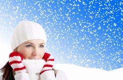 зима девушки Стоковая Фотография RF