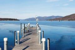 Зима Джордж озера Стоковая Фотография