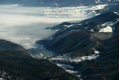 зима долины timis времени Румынии Стоковое Изображение RF