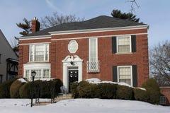 зима дома большая Стоковое Изображение RF