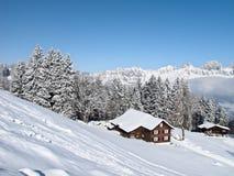 зима дома праздника Стоковая Фотография