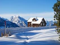 зима дома праздника Стоковое фото RF