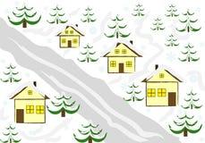 зима дома предпосылки Стоковые Фотографии RF