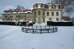 зима дома страны французская Стоковые Фотографии RF