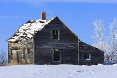 зима дома фермы старая Стоковая Фотография RF