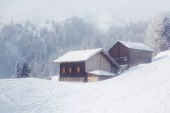 зима дома Стоковые Изображения RF