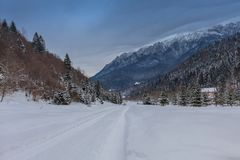 зима дороги деревенская Стоковое Изображение RF
