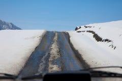 зима дороги Стоковые Изображения RF