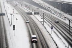 зима дороги Стоковая Фотография