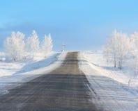 зима дороги Стоковые Изображения