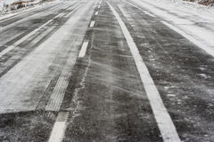 зима дороги Стоковое фото RF