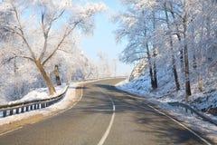 зима дорог Стоковая Фотография