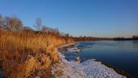 Зима Дунай Стоковое Изображение