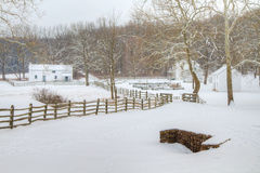 Зима деревни Hopewell Стоковые Изображения RF
