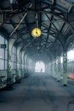 зима железнодорожного вокзала Стоковая Фотография