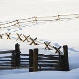 зима загородки Стоковые Фотографии RF