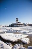 Зима замка Выборга Стоковое Изображение RF