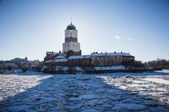 Зима замка Выборга Стоковое Фото