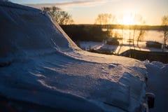 Зима заморозка автомобиля Стоковое Фото