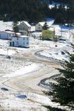 зима замотки дороги Стоковая Фотография
