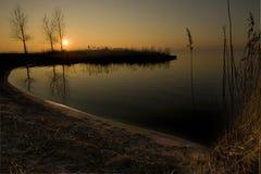 зима захода солнца Стоковая Фотография RF