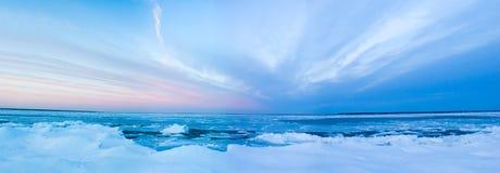 зима захода солнца Стоковое Изображение