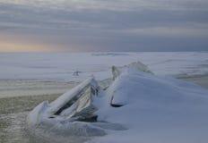 зима захода солнца гор s вечера ural Стоковые Фото