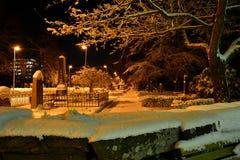 зима захода солнца гор s вечера ural Стоковые Фотографии RF