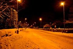 зима захода солнца гор s вечера ural Стоковая Фотография