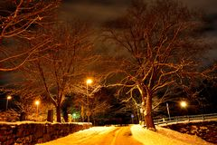 зима захода солнца гор s вечера ural Стоковое фото RF