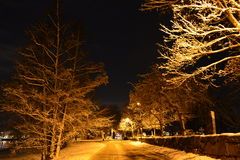 зима захода солнца гор s вечера ural Стоковое Фото