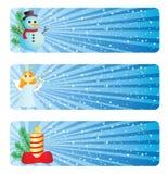 зима знамени Стоковое Изображение RF