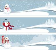 зима знамен Стоковое Изображение RF